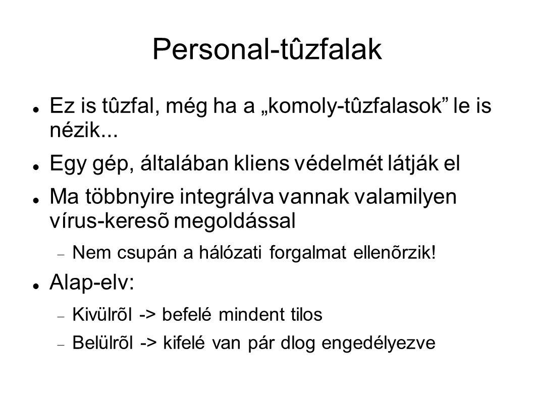 """Personal-tûzfalak Ez is tûzfal, még ha a """"komoly-tûzfalasok le is nézik... Egy gép, általában kliens védelmét látják el."""