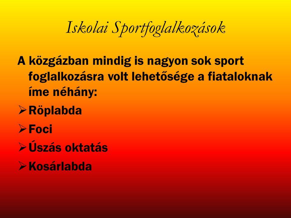 Iskolai Sportfoglalkozások