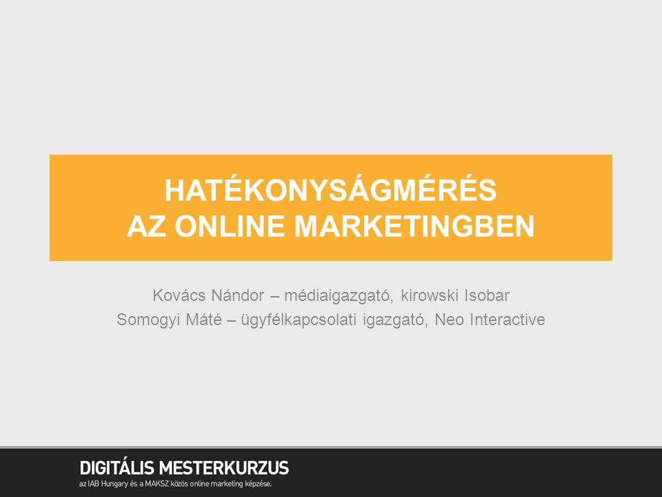 Hatékonyságmérés az online marketingben