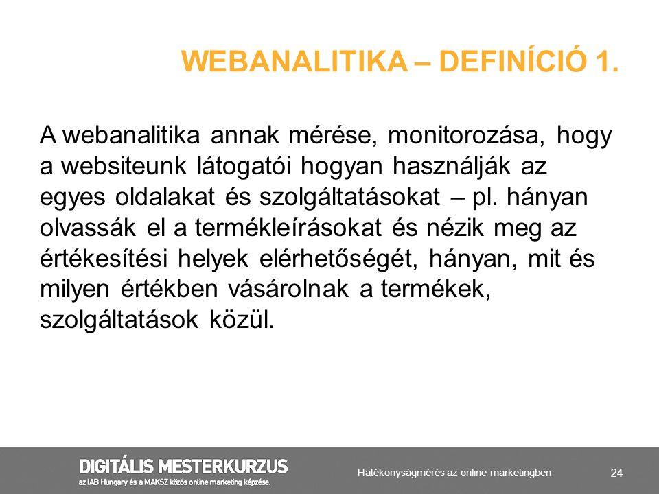 Webanalitika – Definíció 1.