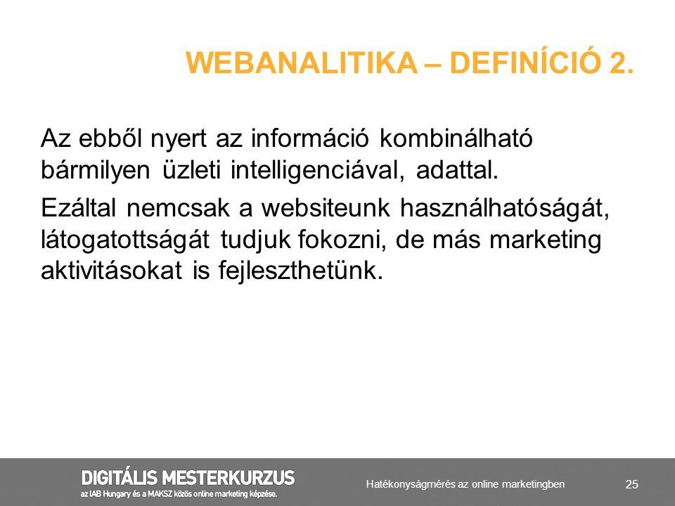 Webanalitika – definíció 2.