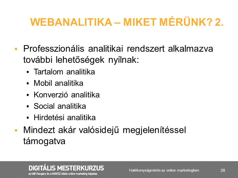 Webanalitika – miket mérünk 2.