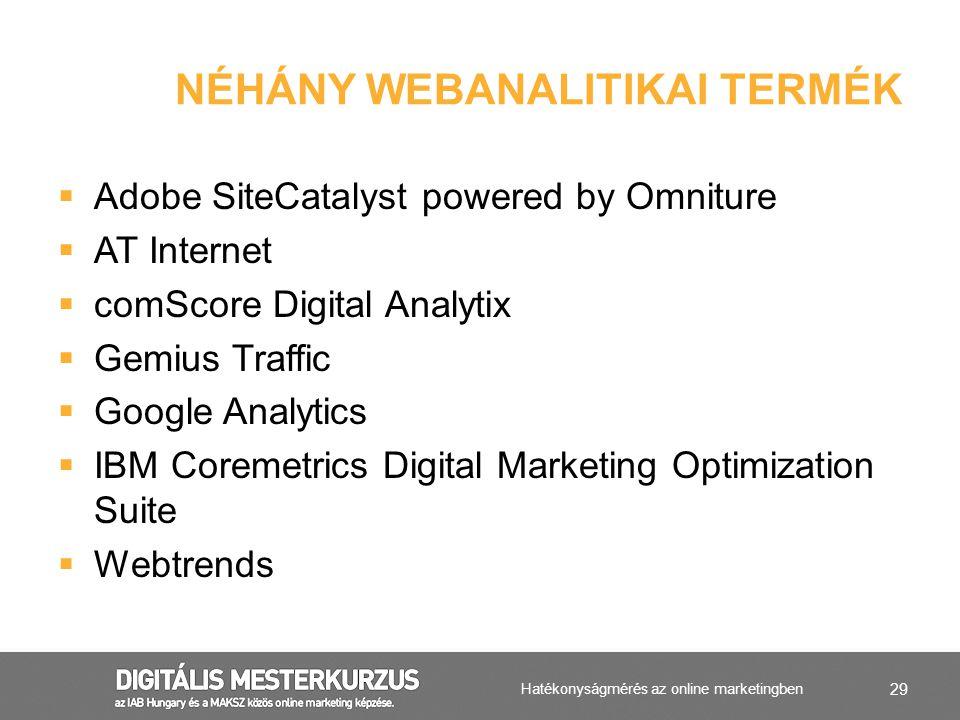 Néhány Webanalitikai Termék