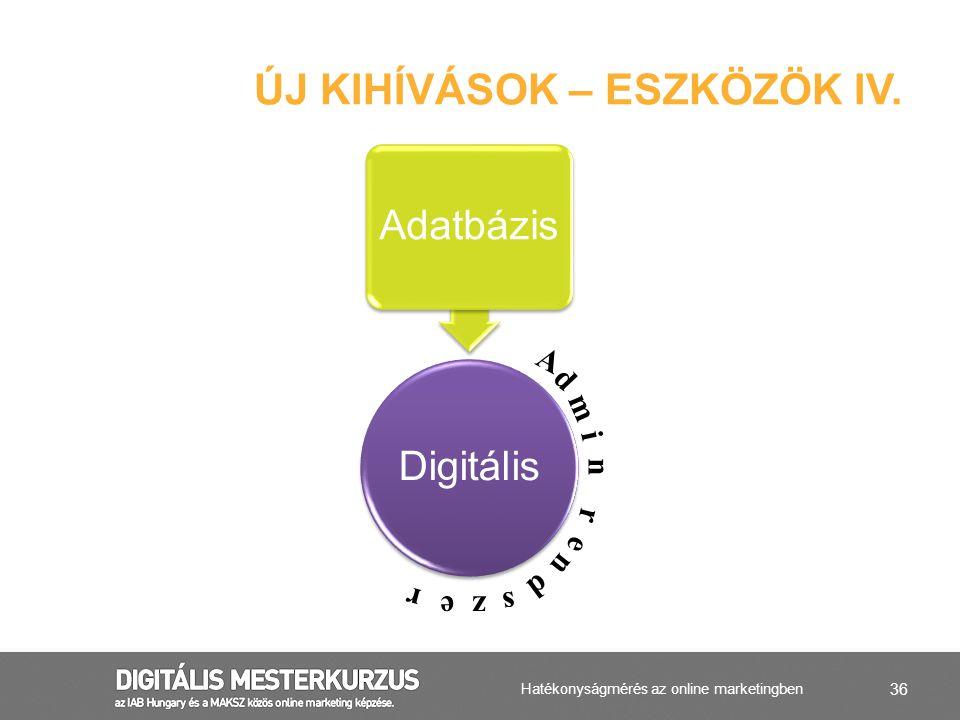 Új kihívások – ESZKÖZÖK IV.