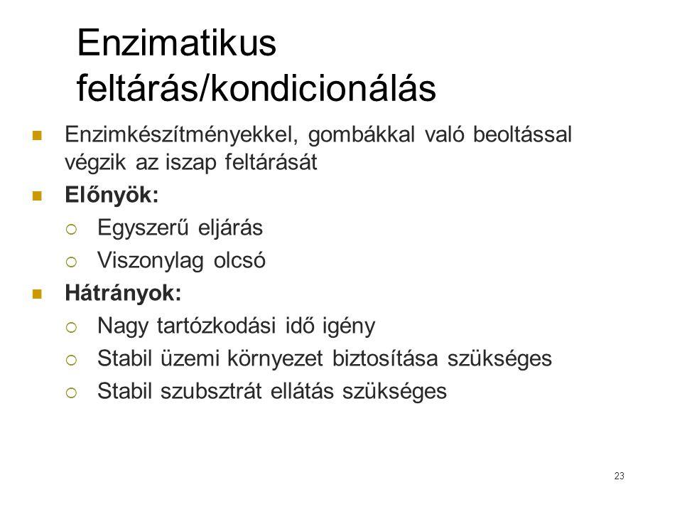 Enzimatikus feltárás/kondicionálás