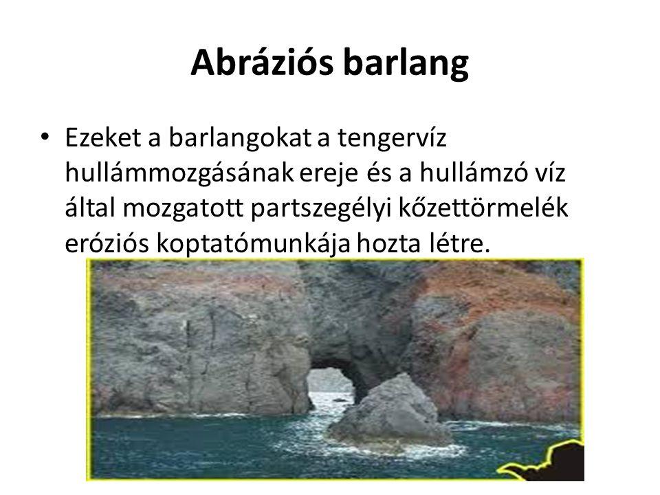 Abráziós barlang