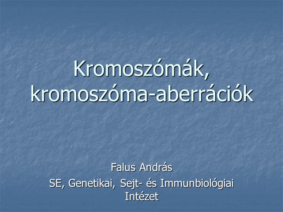 Kromoszómák, kromoszóma-aberrációk