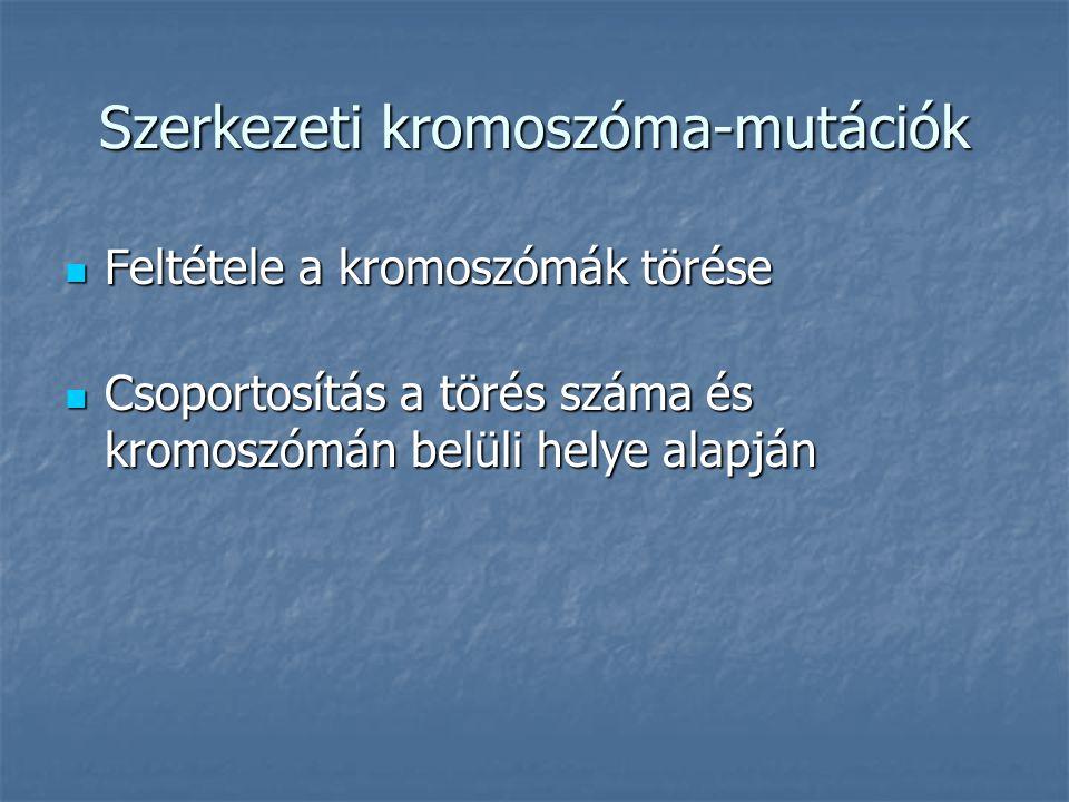 Szerkezeti kromoszóma-mutációk
