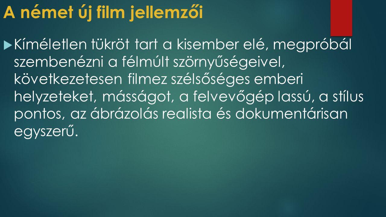 A német új film jellemzői