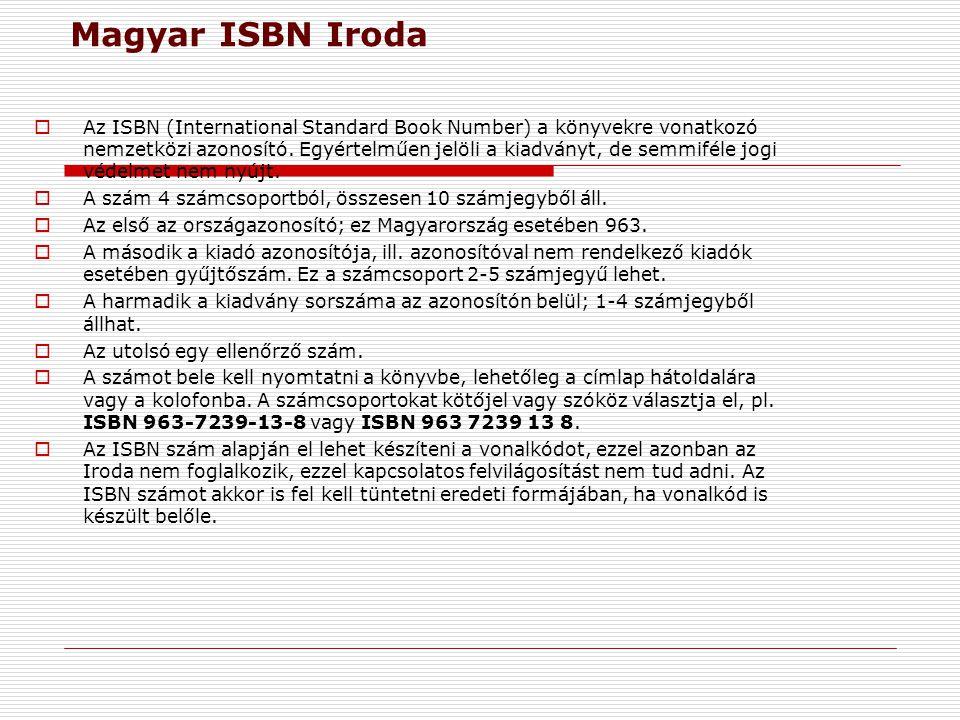 Magyar ISBN Iroda
