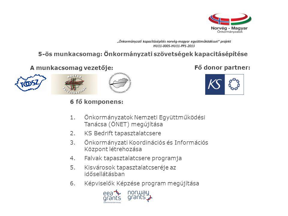 5-ös munkacsomag: Önkormányzati szövetségek kapacitásépítése
