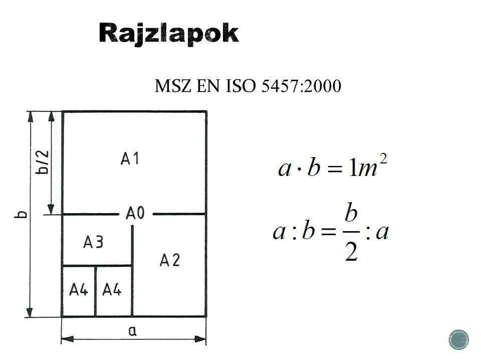 Rajzlapok MSZ EN ISO 5457:2000