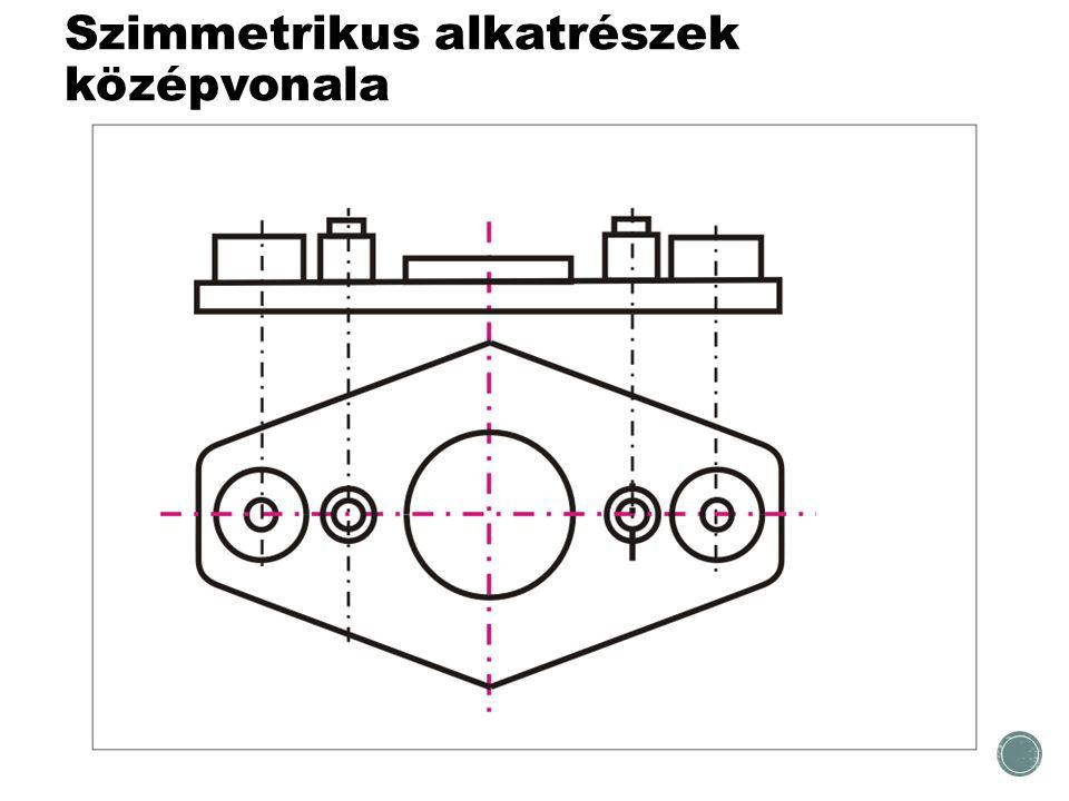 Szimmetrikus alkatrészek középvonala