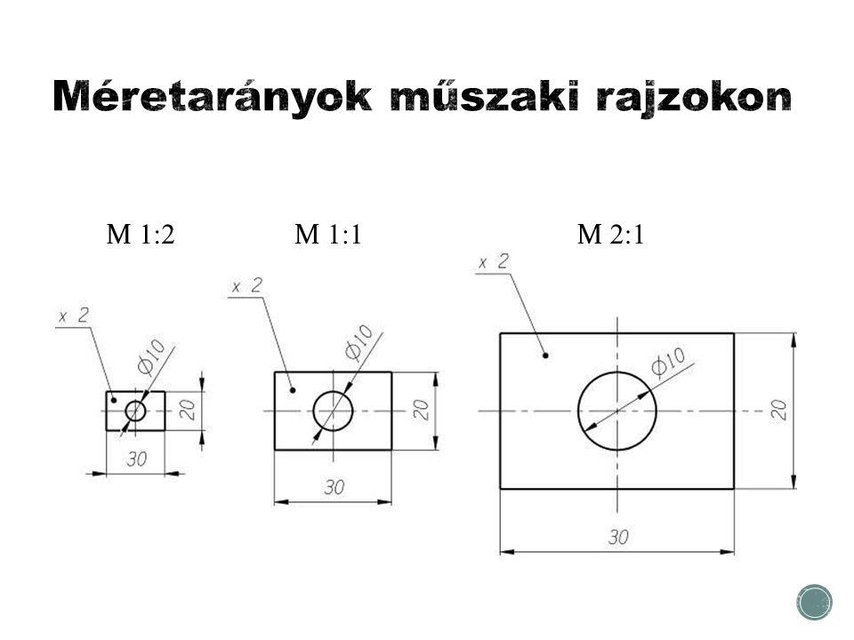 Méretarányok műszaki rajzokon