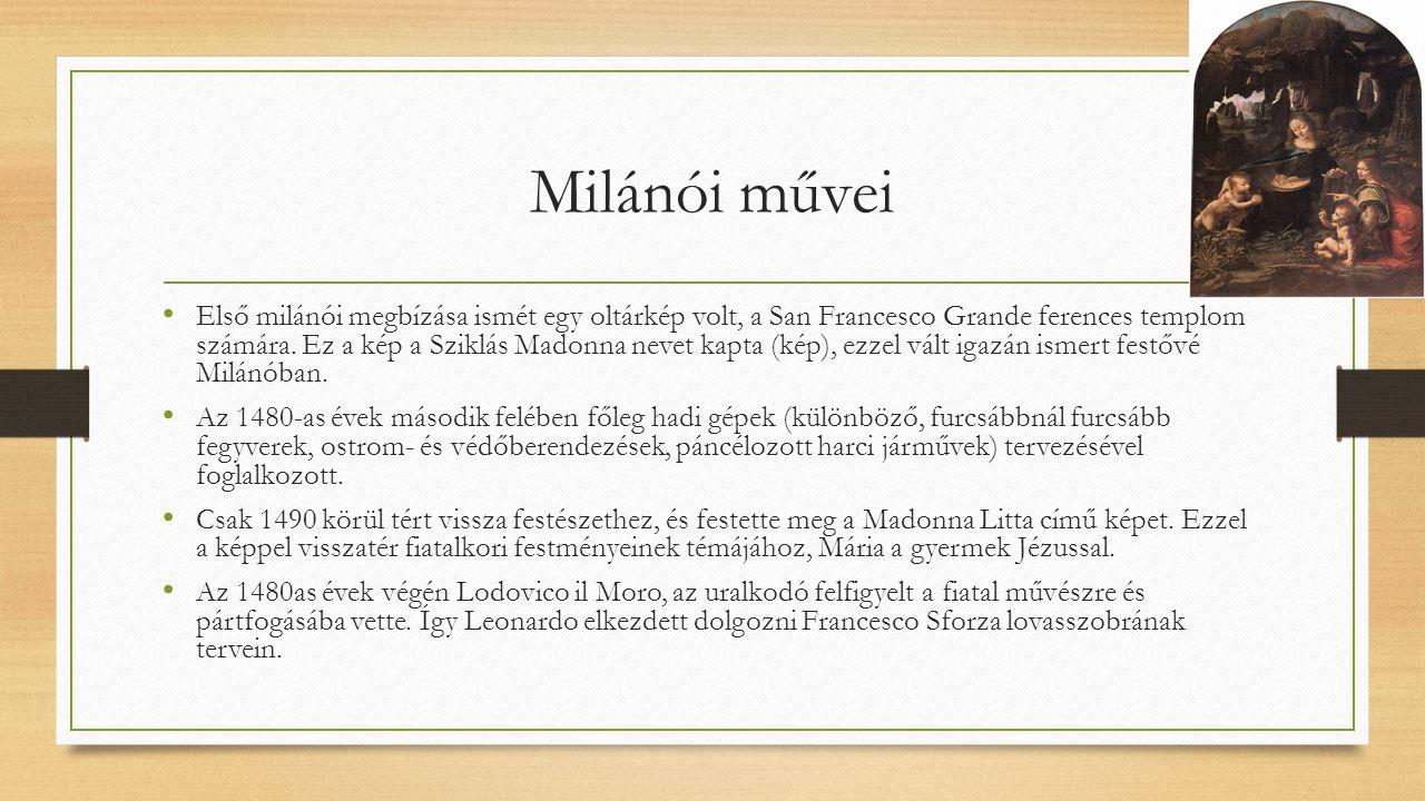 Milánói művei