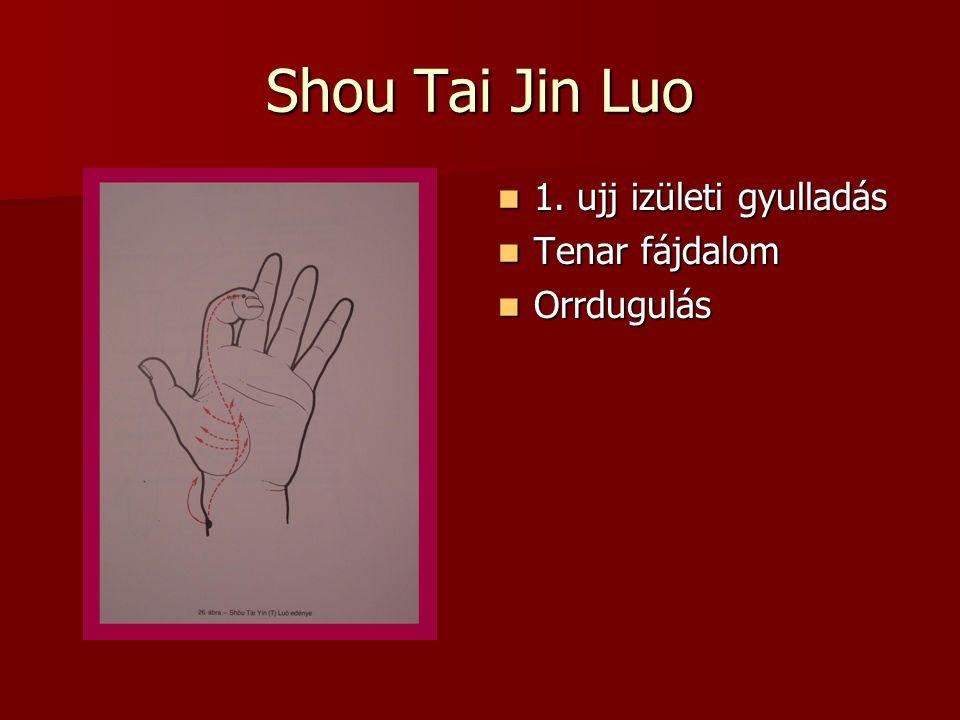 Shou Tai Jin Luo 1. ujj izületi gyulladás Tenar fájdalom Orrdugulás