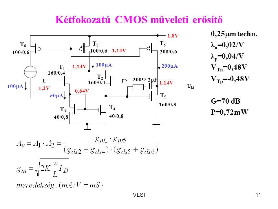 Kétfokozatú CMOS műveleti erősítő