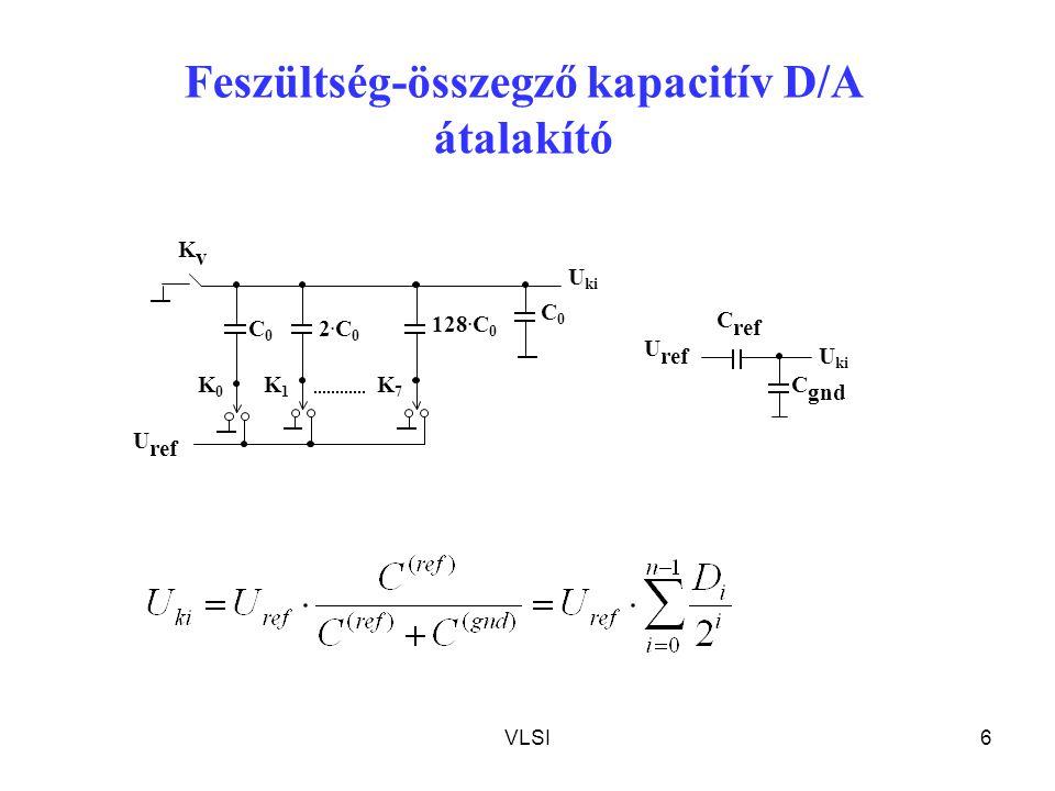 Feszültség-összegző kapacitív D/A átalakító