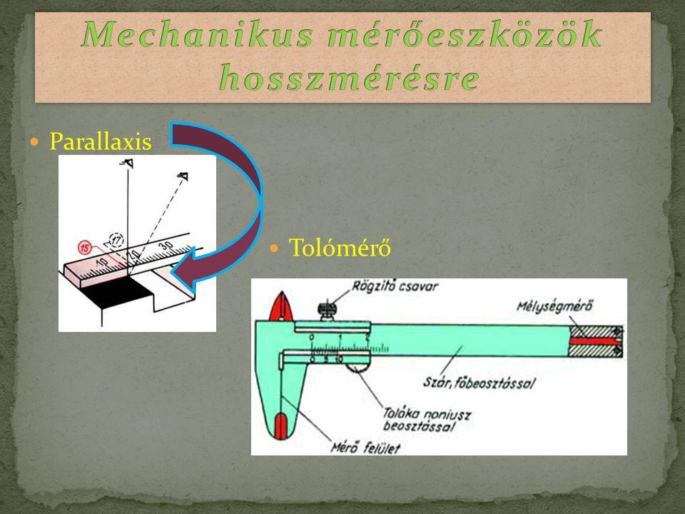 Mechanikus mérőeszközök hosszmérésre