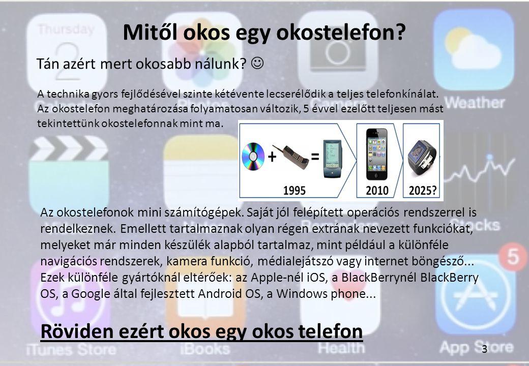 Mitől okos egy okostelefon