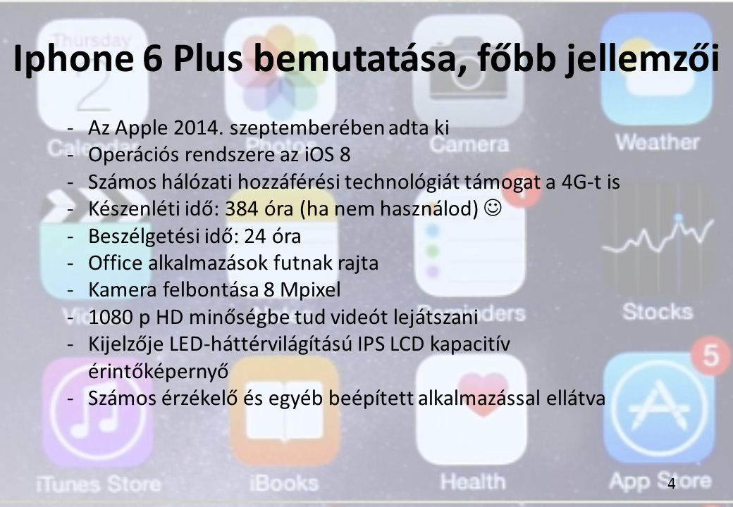 Iphone 6 Plus bemutatása, főbb jellemzői