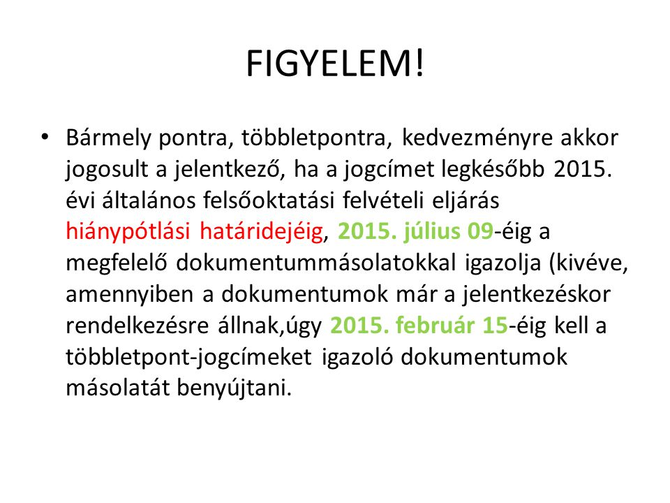 FIGYELEM!