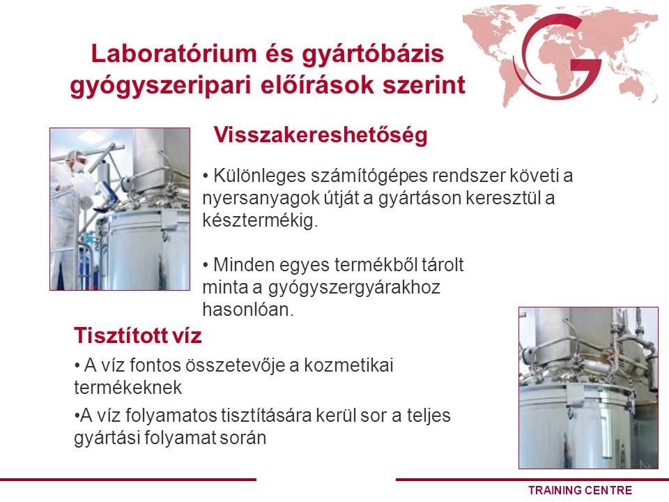Laboratórium és gyártóbázis gyógyszeripari előírások szerint