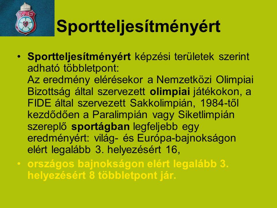 Sportteljesítményért