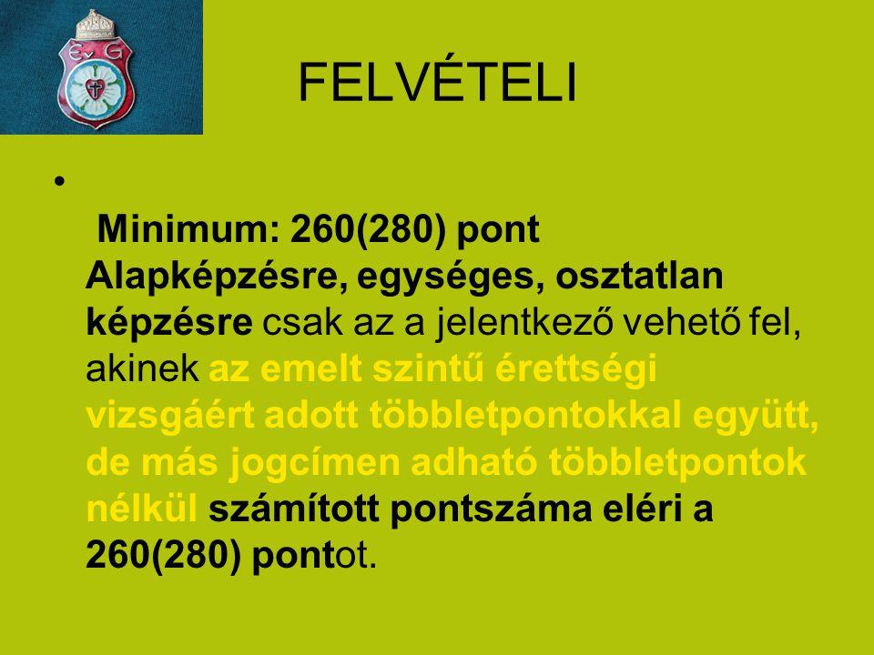 FELVÉTELI