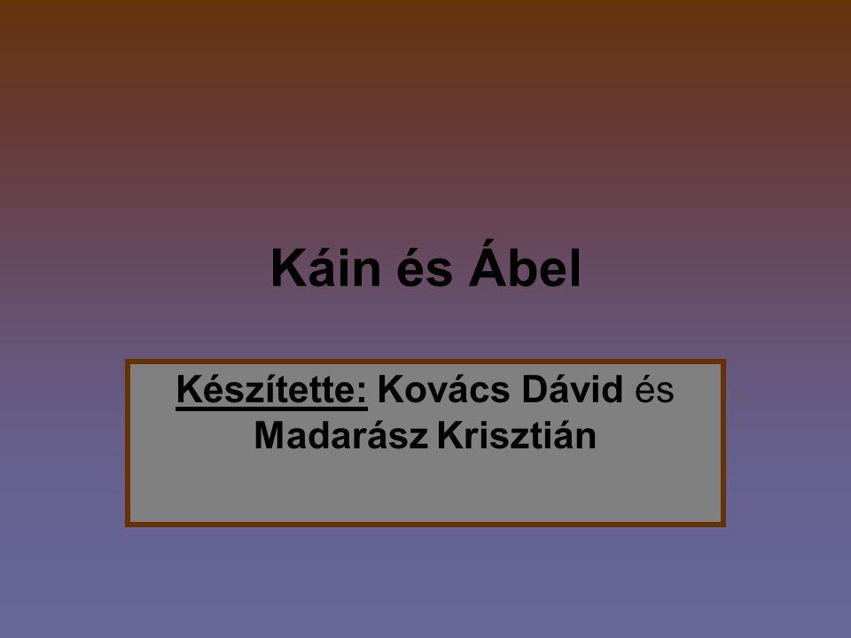 Készítette: Kovács Dávid és Madarász Krisztián