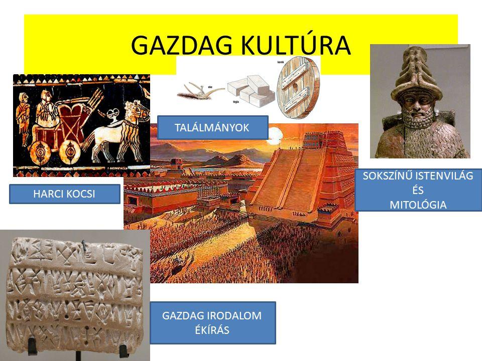 GAZDAG KULTÚRA TALÁLMÁNYOK SOKSZÍNŰ ISTENVILÁG ÉS MITOLÓGIA
