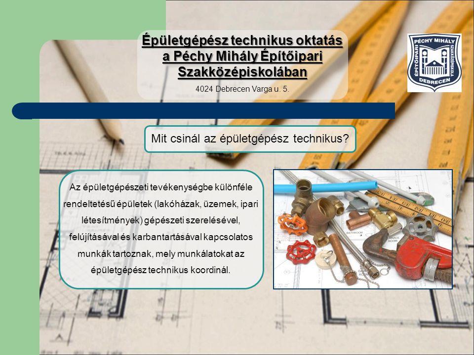Mit csinál az épületgépész technikus