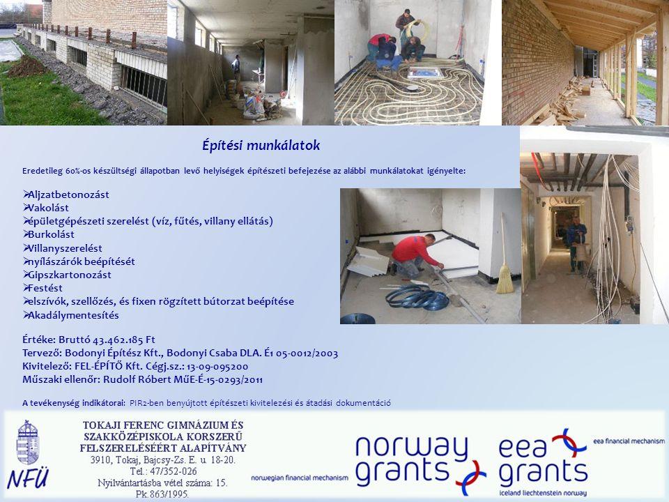 Építési munkálatok Aljzatbetonozást Vakolást