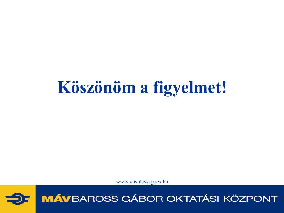 Köszönöm a figyelmet! www.vasutaskepzes.hu