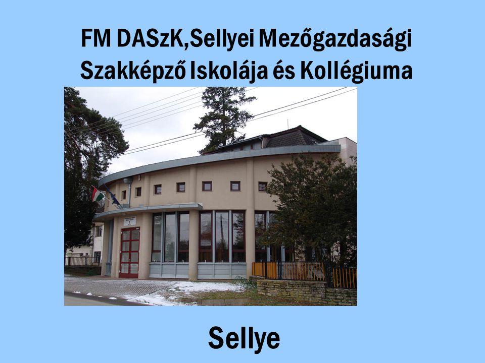 FM DASzK,Sellyei Mezőgazdasági Szakképző Iskolája és Kollégiuma