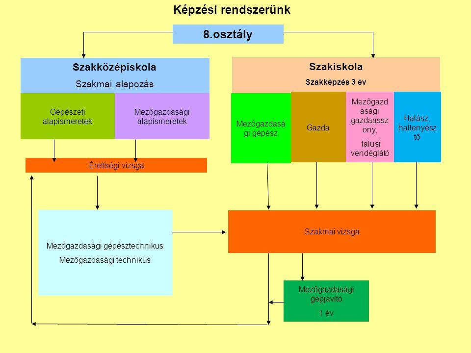 Képzési rendszerünk 8.osztály