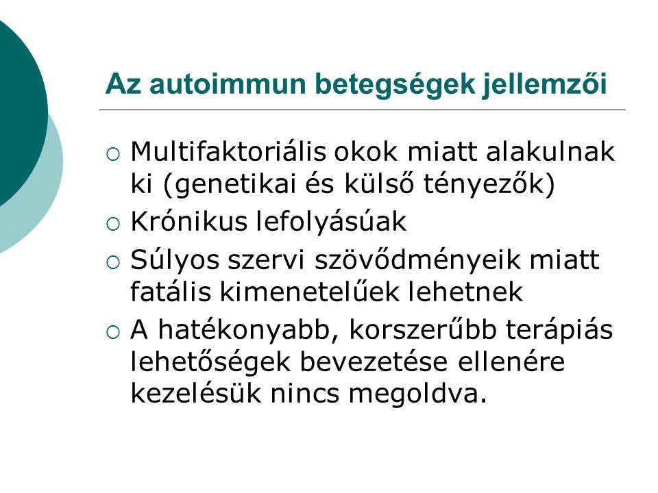 Az autoimmun betegségek jellemzői