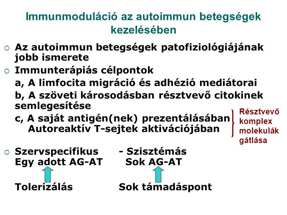Immunmoduláció az autoimmun betegségek kezelésében