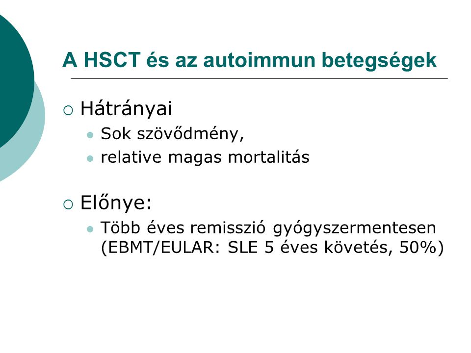 A HSCT és az autoimmun betegségek
