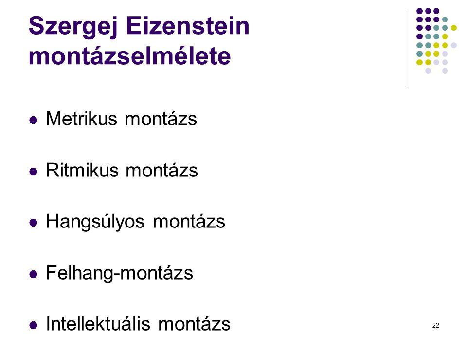 Szergej Eizenstein montázselmélete