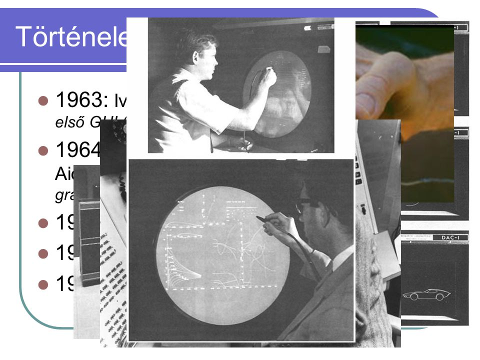 Történelem 1963: Ivan Sutherland – Sketchpad első GUI (Graphical User Interface)