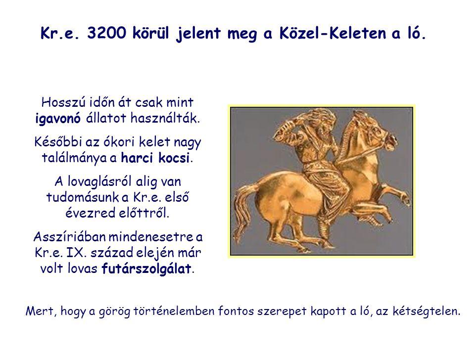 Kr.e. 3200 körül jelent meg a Közel-Keleten a ló.