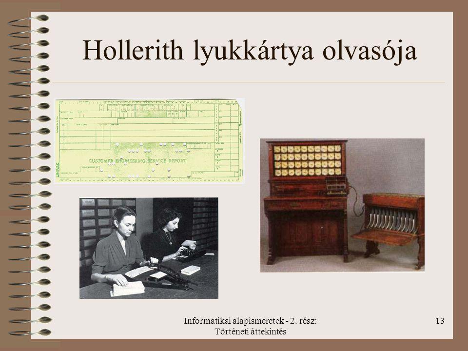 Hollerith lyukkártya olvasója