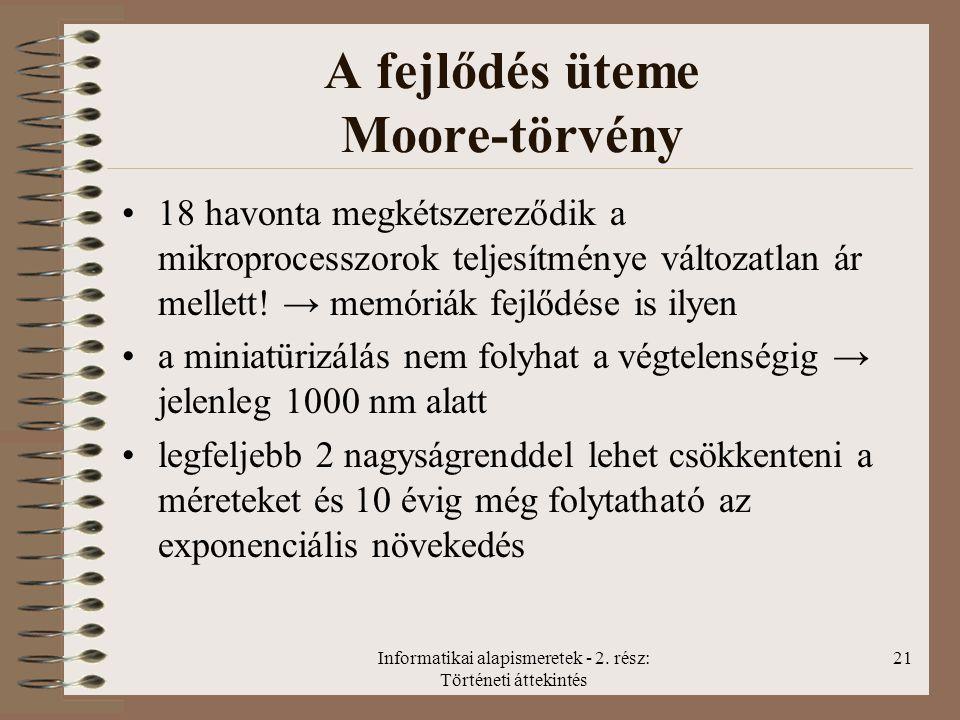 A fejlődés üteme Moore-törvény