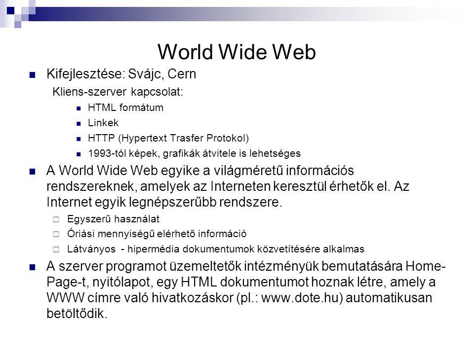 World Wide Web Kifejlesztése: Svájc, Cern