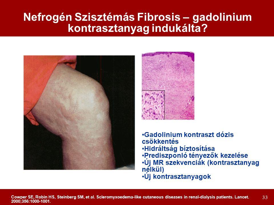 Nefrogén Szisztémás Fibrosis – gadolinium kontrasztanyag indukálta
