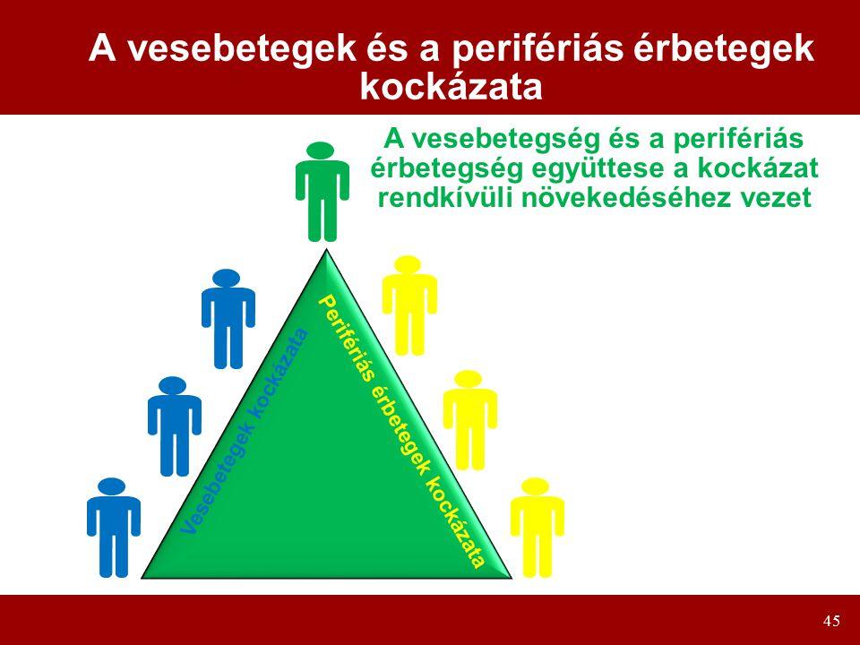 A vesebetegek és a perifériás érbetegek kockázata