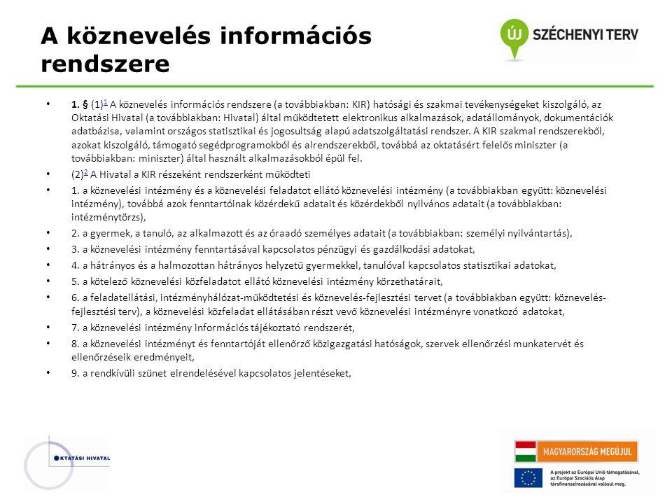 A köznevelés információs rendszere