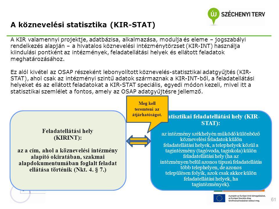 A köznevelési statisztika (KIR-STAT)