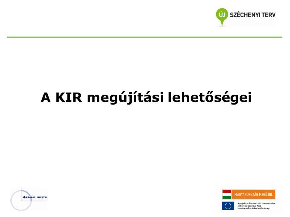 A KIR megújítási lehetőségei